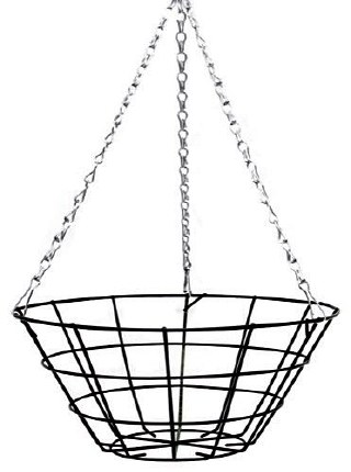 14 Inch Wire Hanging Basket with Flat Bottom 35cm
