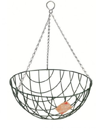 14 Inch Wire Hanging Basket with Round Bottom 35cm