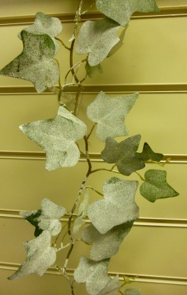 Christmas Frosted Ivy Garland Green 180cm