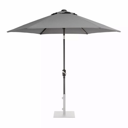 Kettler Parasol 2.5m Wind-Up With Slate Canopy