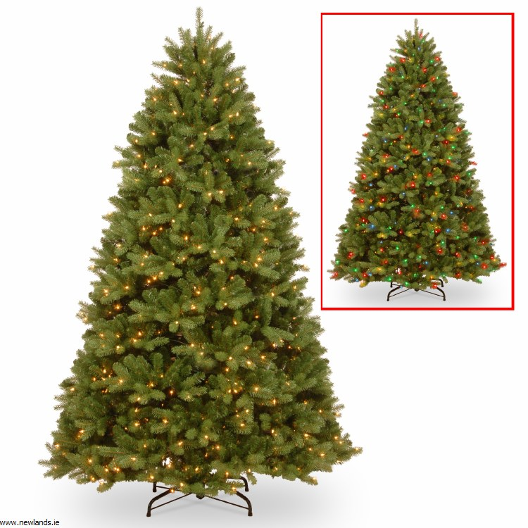 Artificial Christmas Tree With Lights.Fairmont Cedar 7 5 Foot Pre Lit Artificial Christmas Tree With 750 Dual Multi Colour Warm White Lights