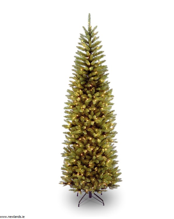 purchase cheap 4277d 3d2f2 Kingswood Fir Slim 7.5 Foot Pre-Lit Christmas Tree With 350 Warm White  Lights