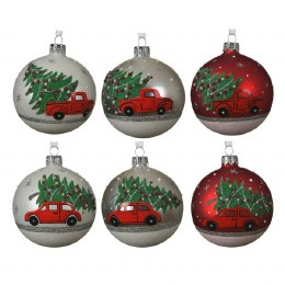 Chirstmas Bauble Tree on the Car Roof 8cm