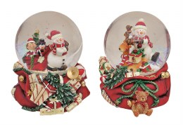 Christmas Snowglobe with Santa or Snowman with Musicbox 15cm
