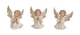 Angel Decoration White with Wings Porcelain 8cm x 7cm x 9cm