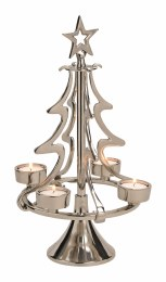 Christmas Tealight Holder Tree with 4 Tealight Slots 40cm