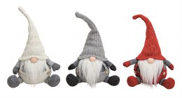 Christmas Plush Gonk Gnome in White Silver or Red 30cm