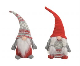 Christmas Plush Gonk Gnome in Textile Hat 38cm