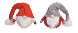 Christmas Plush Gonk Gnome in Grey or Red Hats 25cm