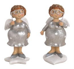 Christmas Decoration Angel with Glasses 10cm