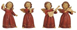 Christmas Angels Porcelain with Red Dress
