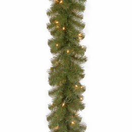 100 Foot Covington Pine Pre Lit Garland With 350 Warm White Lights