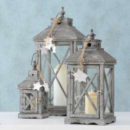 Christmas Lantern Grammy China Fir Grey Large 49cm
