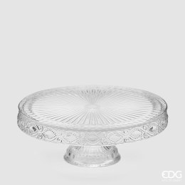 Christmas Glass Cake Plate Large 33cm