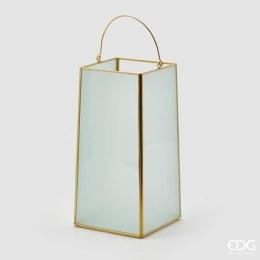 Lantern Statin H25cm X 13cm X 13cm Gold