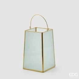 Lantern Statin H20cm X 13cm X 13cm Gold