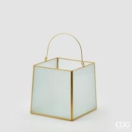 Lantern Statin H16cm X 16cm X 16cm Gold