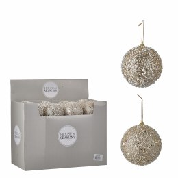 Christmas Bauble Champagne with Glitter 10cm