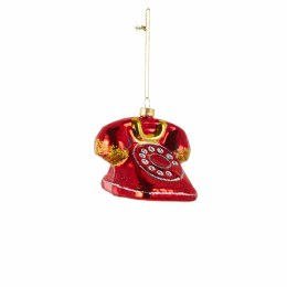 Christmas Red Telephone Decoration with Hanger 7cm