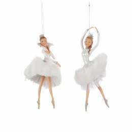 Christmas Ballerina in White Decoration with Hanger 7.5 x 7.5 x 15cm