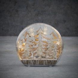 Christmas Winter Scene Tree with Warm White LED Lights 25cm x 6cm