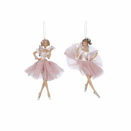 Christmas Ballerina in Pink Decoration with Hanger 4 x 2 x 6cm