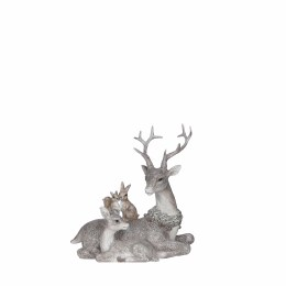 Christmas Sitting Down Woodland Deer Ornament 16 x 9.5 x 18.5cm