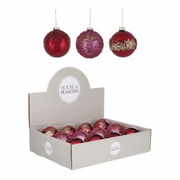Christmas Bauble Red or Red Glitter or Red Gold Small 8cm