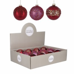 Christmas Bauble Red or Red Glitter or Red Gold Large 10cm