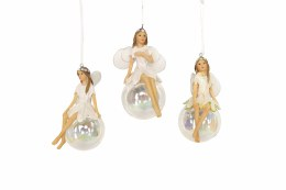 Christmas Iridescent Fairy On Ball 11cm