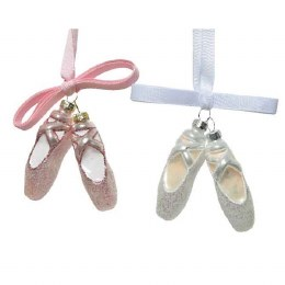 Christmas Decoration Ballet Shoes 7.5cm