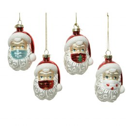 Chirstmas Decoration Santa Wearing Mask  9cm