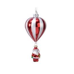 Christmas Decoration Baloon With Santa 15cm