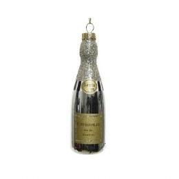 Christmas Decoration Champagne Bottle 12.6cm