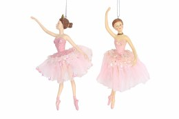 Christmas Decoration Ballerina in Pink with Hanger 19x9cm