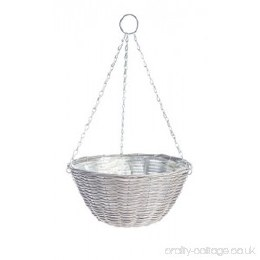 Gardman  Rattan Light Grey Basket 14 in