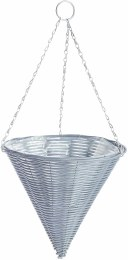 Gardman  Rattan Effect Grey Hanging Cone 14 in