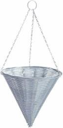 Gardman  Rattan Effect Grey Hanging Cone 14 in