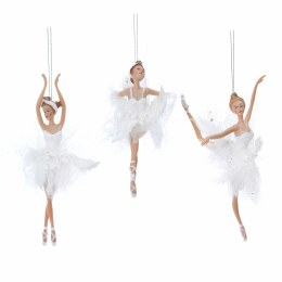 Christmas Decoration Ballerina in White with Hanger 19x9cm