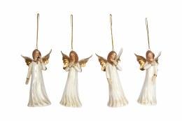 Angel Decoration White & Gold