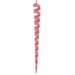 Christmas Decoration Giant Candy Cane Twist Icicle 60x7cm