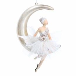 Christmas Decoration Ballerina On Moon with Hanger 20x13cm