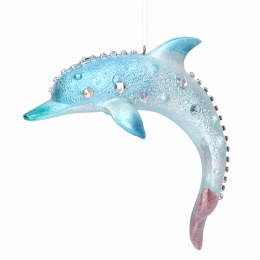 Christmas Decoration Blue Dolphin with Hanger