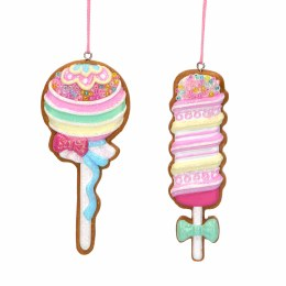 Christmas Decoration Gingerbread Ice Cream 9cm