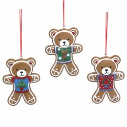 Christmas Decoration Teddy with Jumper 8cm