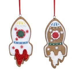 Christmas Decoration Gingerbread Rocket 8cm
