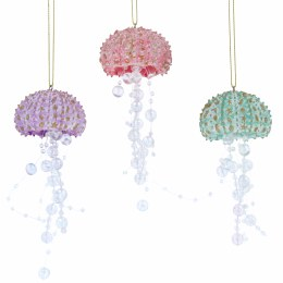 Christmas Decoration Beaded Jelly Fish 11cm