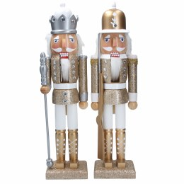 Christmas Nutrcaker Soldier Wooden Firwood Gold or Silver 37cm