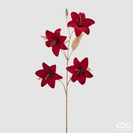 Christmas Burgundy Lily Spray 100cm