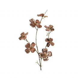 Christmas Dogwood Copper Spray with Gold 84cm